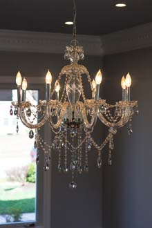 dining rm chandelier
