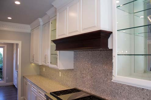 hood and cabinets