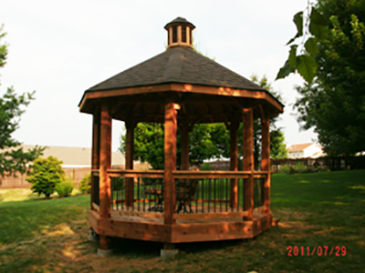 Gazebo for Dan and Barb Schmidt